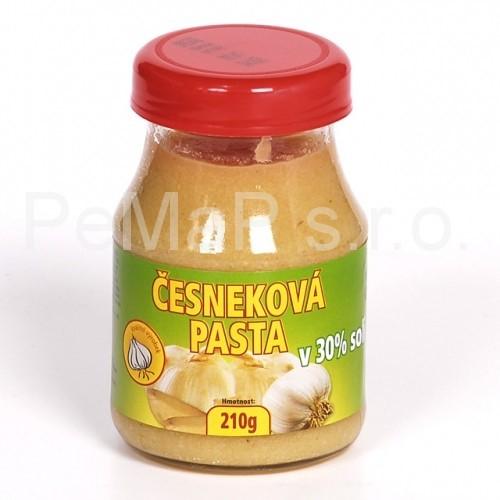 Česneková pasta v 30% soli 210g