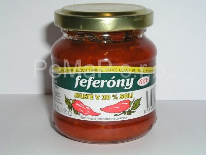 Feferony mleté v 20% soli 140g
