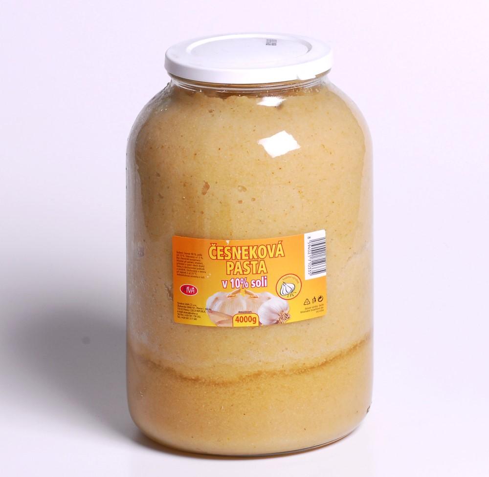 Česneková pasta v 10% soli S4/1
