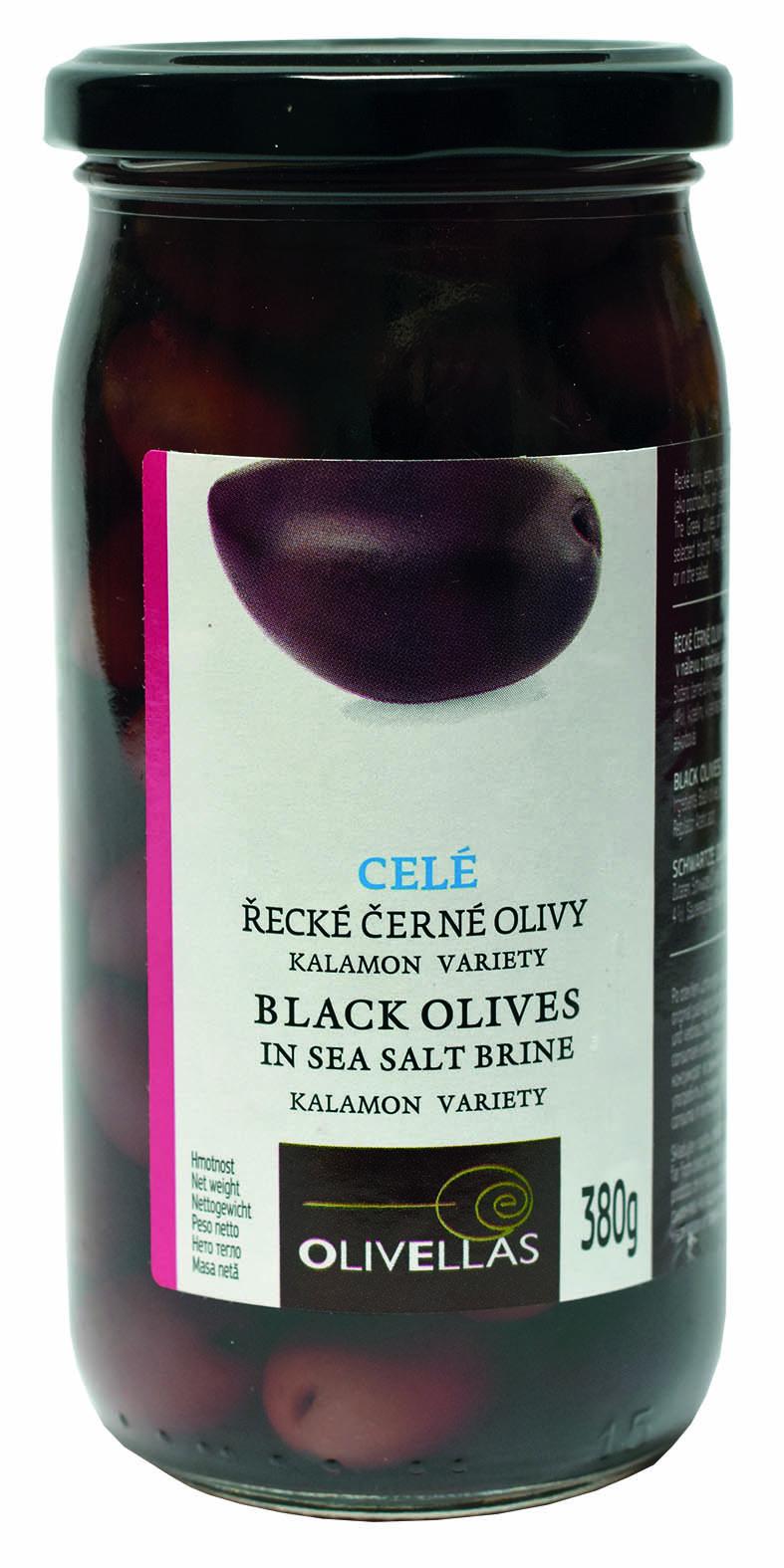 Řecké  Černé olivy Kalamata celé