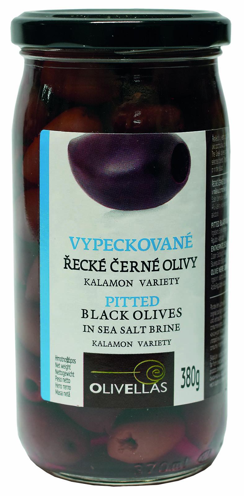 Řecké Černé olivy Kalamata vypeckované