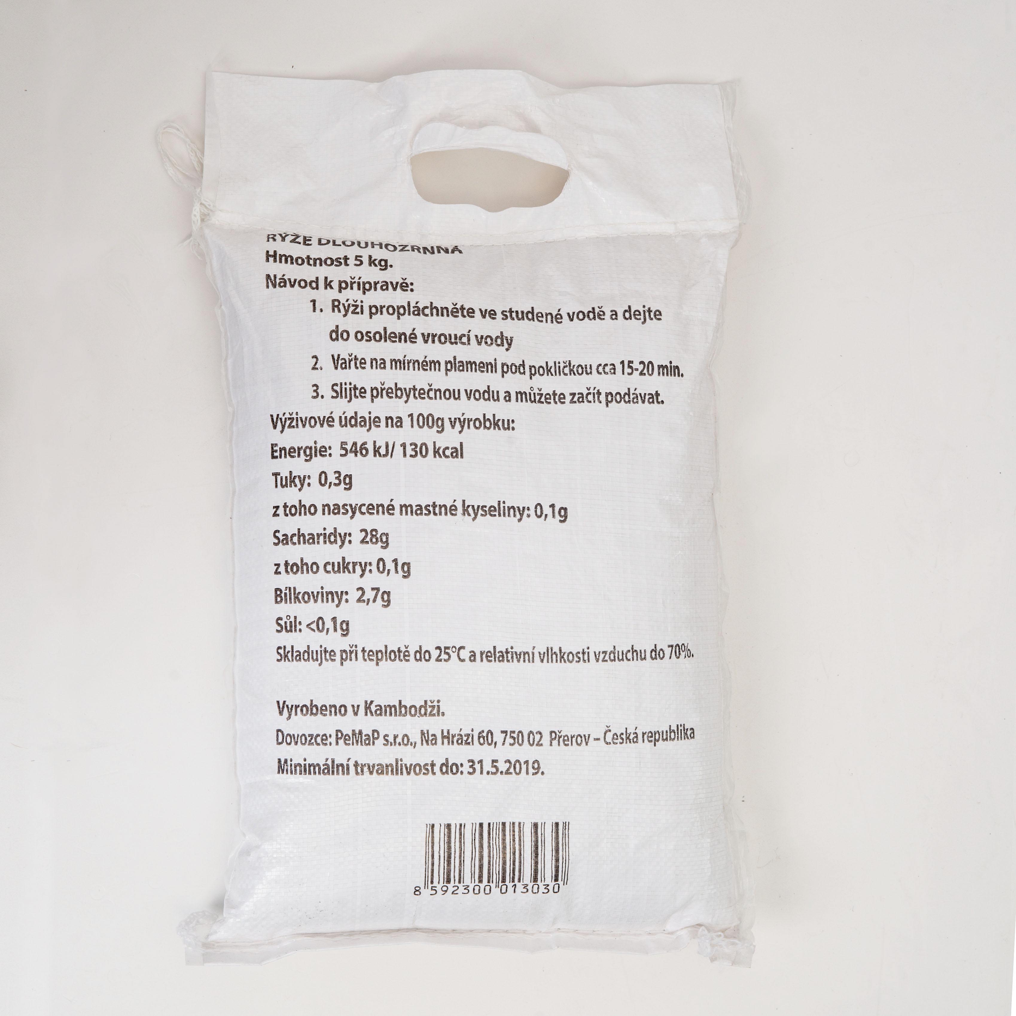 Rýže dlouhozrnná bílá 5kg