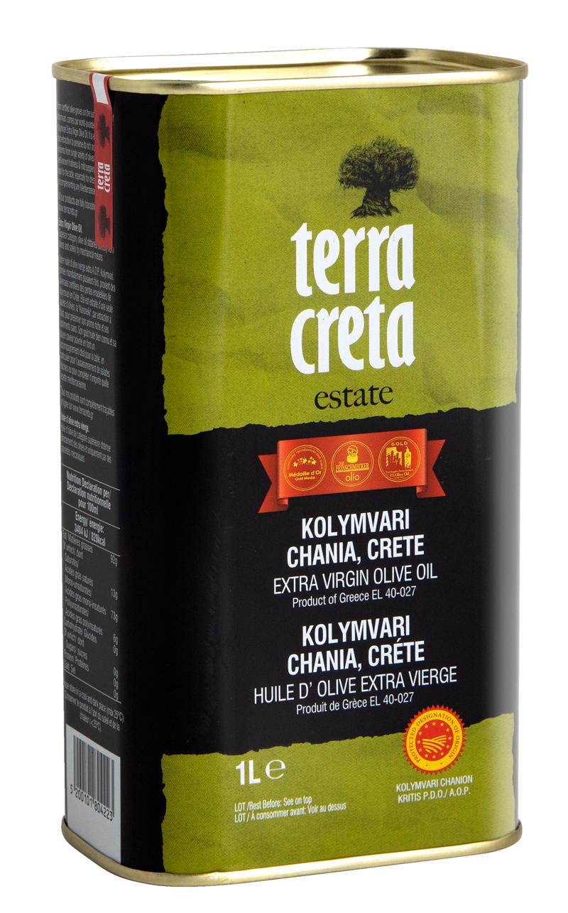 EXTRA VIRGIN  olivový olej  TERRA CRETA  P.D.O.Kolymvari 1l